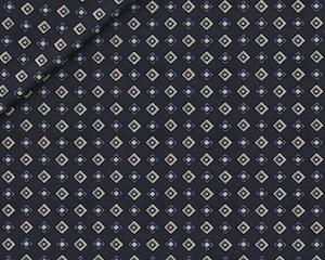 Fantasia Cotone Motivo a Quadri Blu su Bianco