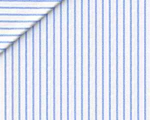 Twill Rigato Largo Azzurro