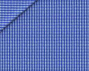 Zephir Micro Quadrettato Blu Oltremare