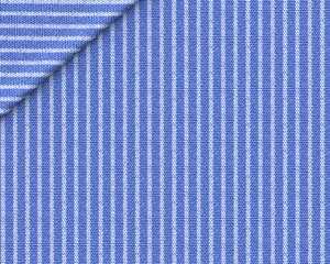 Popeline Rigato Blu Reale